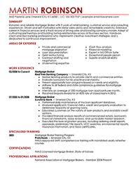 Easy Resume mortgage broker resume example contemporary