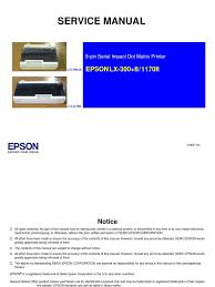 epson lx 300 ii lx 1170ii em ingles service manual usb