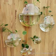 set of 5 wall hanging glass fishbowl wall planter vase for living