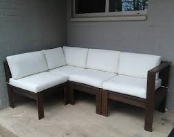 Modern Outdoor Sofa by Simple Modern Outdoor Sectional Diy Outdoor Furniture Tutorials