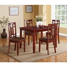 Acme Furniture Dining Room Set Acme Sonata 5 Piece Cherry Dining Set 71164 The Home Depot