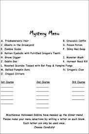 halloween letter template 7 best creative menus images on pinterest halloween menu
