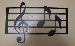 Music Home Decor by Music Scale With Notes Metal Wall Art