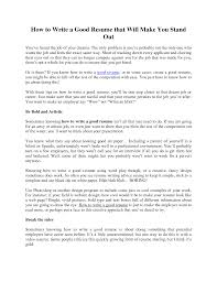 How To Do An Resume To Write A Resume Resume For Your Job Application