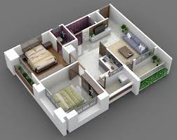2 bhk home design plan