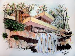 falling water house pictures interior design decor