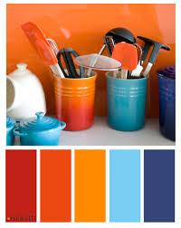 blue and orange interior design for colorful decor your home