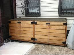 Free Wooden Garbage Box Plans by Outdoor Storage Cabinet Outdoor Trash Bin Storage Cabinet Youtube