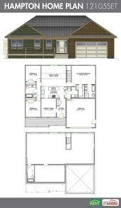 hampton 3 bedroom 3 bath ranch style home plan features open
