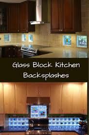 glass block backsplashes kitchens