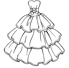 dress coloring pages light dress coloring page for girls printable