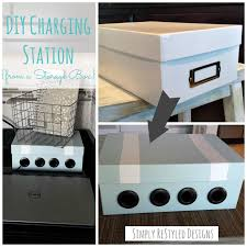 diy charging station from an old vhs storage box www