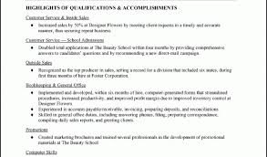 sample resumes for retail with highlights of qualifications