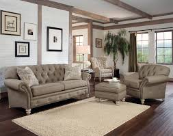 Traditional Living Room Furniture by Furniture Creative Grey Vinyl Tufted Sofa With Nailhead Trim And