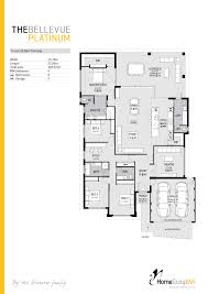 the bellevue platinum display home floor plan only available at good layout just needs a scullery