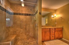 bathroom wooden bathroom cabinet design ideas with walk in shower