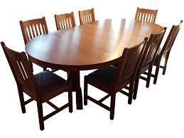 mission style stickley oak dining set set of 9 chairish