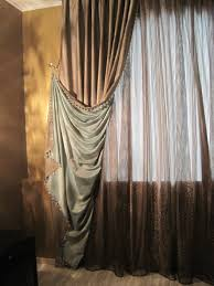 Eastern Accents Window A Dramatic Pulled Back Drape Contrast Lined And Complimented With