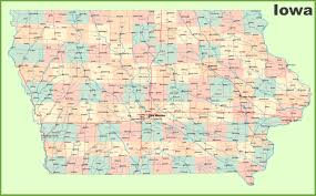 Large Map Of Usa by Large Detailed Map Of Iowa With Cities And Towns