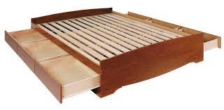 Plans For Wooden Platform Bed by Modren Platform Beds With Drawers Underneath Intended Inspiration