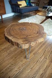 Diy Simple End Table by Remodelaholic Diy Simple Wood Slab Coffee Table When U2026 Pinteres U2026