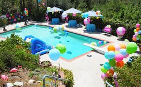 Home Party Ideas Kids Pool Party Theme Home Party Ideas