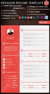 Examples Of Creative Resumes by Cool Free Resume Templates Hexagon Creative Resume Template
