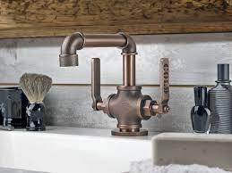 bathroom kitchen faucet in bathroom industrial style plumbing