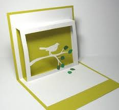 Pop up paper bird card