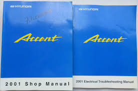 2001 hyundai accent service repair shop workshop manual set w