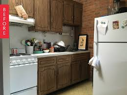 Apartment Therapy Kitchen by Tara U0027s Budget Rental Remodel 300 Later This Rental Kitchen Is