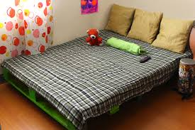 Make A Platform Bed With Storage by How To Make A Pallet Bed Frame 6 Steps With Pictures Wikihow