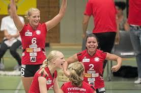 Die Villingerinnen, hier Martha Deckers, Nina Kohler, Michelle Feuerstein und Ramona Wolbert (von links) feiern ihre ersten Punkte in der 2. Bundesliga. - media.media.8da82dff-3376-4502-bde1-99b963045eda.normalized