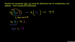 4th Grade Order Of Operations Worksheets Distributive Property Over Subtraction Video Khan Academy