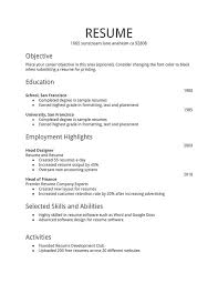 Resumes For Jobs Examples by Example Of A Simple Resume 22 Simple Job Resume Examples Security