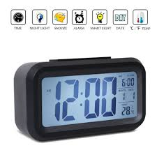 Unique Desk Clocks by Battery Operated Illuminated Alarm Clocks