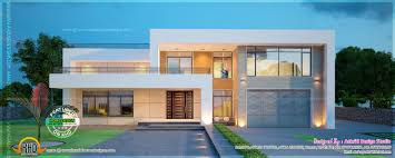 new modern villa exterior kerala home design and floor plans