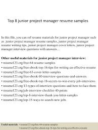project management resume example top8juniorprojectmanagerresumesamples 150402080716 conversion gate01 thumbnail 4 jpg cb 1427980083