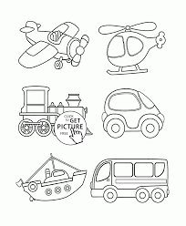 transportation coloring page for toddlers coloring pages