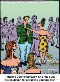 Older Woman Cartoons and Comics   funny pictures from CartoonStock