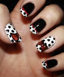 picture 3 of 11 black and white french tip nail designs photo