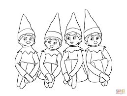 elf coloring page elves on the shelf coloring page free printable