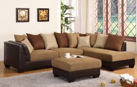 Leather Sofa Chaise by Furniture Microfiber Sectional Leather And Suede Sectional