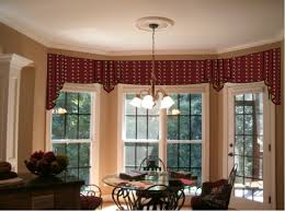 ideas of bow window treatments