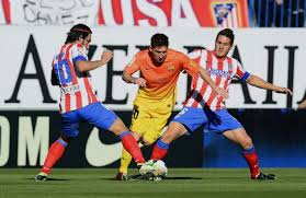 Pertandingan Atletico Madrid vs Barcelona