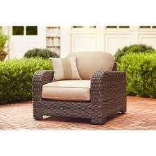 Brown Jordan Fire Pit by Brown Jordan Northshore Patio Lounge Chair With Harvest Cushions