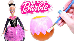 Halloween Barbie Makeup by How To Make A Diy Halloween Barbie Pumpkin Barbie Doll Halloween