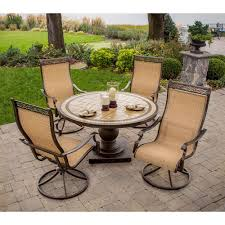 Outdoor Seating by Hanover Monaco 5 Piece Patio Outdoor Dining Set Monaco5pcsw The