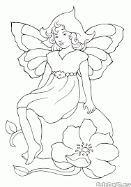 coloring page protector of flowers