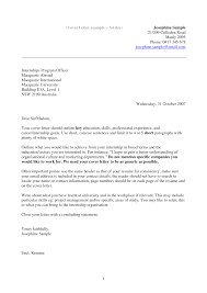 Cover Letter Internal Application Example
